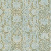 2542-20728 Tianna Turquoise Ironwork Scroll wallpaper