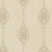 2542-20734 Alvina Brass Ironwork Stripe  wallpaper