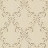 2542-20737 Quill Brass Ironwork Leaf  wallpaper