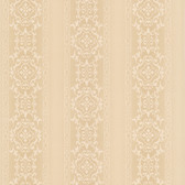 Simply Satin VI Camden Ornate Stripe Latte Wallpaper 990-65000