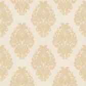 Simply Satin VI Bromley Satin Damask Linen Wallpaper 990-65010