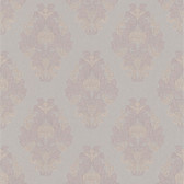 Simply Satin VI Bromley Satin Damask Mauve Wallpaper 990-65013