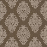 Simply Satin VI Bromley Satin Damask Coffee Wallpaper 990-65016