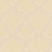 Simply Satin VI Cotswold Floral Damask Flaxen Wallpaper 990-65059