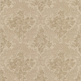 Simply Satin VI Cotswold Floral Damask Sand Wallpaper 990-65061