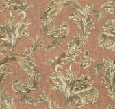 481-1416 Romeo Copper Leafy Scroll wallpaper
