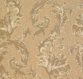 481-1421 Romeo Gold Leafy Scroll wallpaper