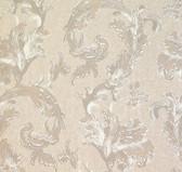 481-1422 Romeo Champagne Leafy Scroll wallpaper