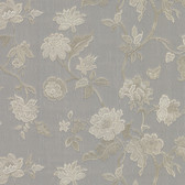 481-1430 Kallisto Grey Floral Trail wallpaper