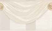 481-1574 Genevra Champagne Draping Satin Border wallpaper