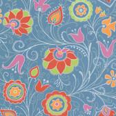 Suzani Primitive Jacobean Azure Wallpaper 314023