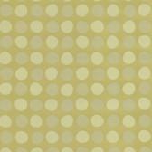 Suzani Polka Dots Olive Wallpaper 314032