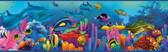 Down Under Neptune's Garden Portrait Blue Border Wallpaper TOT46351B