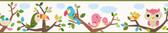 Island Beat Forest Friends Trail Green Border Wallpaper TOT46362B