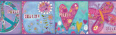 Lennon Imagine Peace Portrait Violet Border Wallpaper TOT46392B
