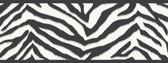 Mia Faux Zebra Stripes Black Border Wallpaper TOT46421B