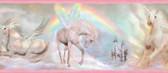 Farewell Unicorn Dreams Portrait Pink Border Wallpaper TOT46441B