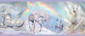 Farewell Unicorn Dreams Portrait Iris Border Wallpaper TOT46442B