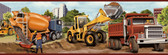 Elbow Grease Heavy Machinery Portrait Yellow-Red Border Wallpaper TOT46462B