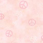 Joplin Peace Flowers Toss Watermelon Wallpaper TOT47171