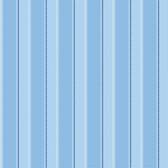 Gatsby City Scape Stripe Blue Wallpaper TOT47231