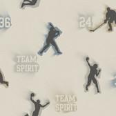 Glavine Grey Sports Figures Toss Mocha Wallpaper TOT47242