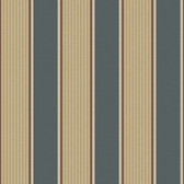 Turf Navy Stripe Lead Wallpaper TOT47273