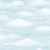 Daydreamer Clouds Faux Effects Light Blue Wallpaper TOT47601