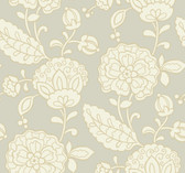 pearlescent beige, tan,  Carey Lind Vibe  Chunky Floral Wallpaper