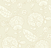 pearlescent cream, white, sandy beige Carey Lind Vibe  Chunky Floral Wallpaper