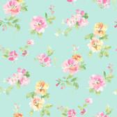 Captiva Aqua Floral Toss