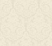 Weatherby Woods Textured Damask Wallpaper Golden Cream/White
