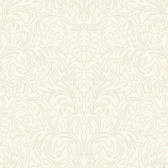 ND7001-Candice Olson Inspired Elegance Muse Scroll Cream Wallpaper