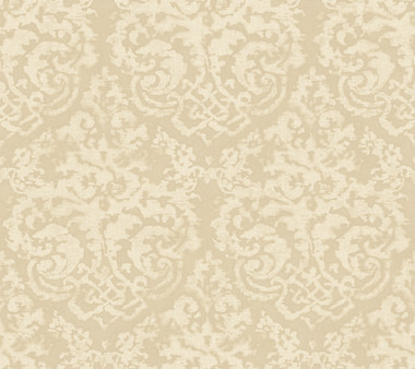 Weatherby Woods Textured Damask Wallpaper Taupe Pearl/Off White