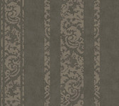 Weatherby Woods Textured Stripe Wallpaper Silvery Charcoal Gray/Sage