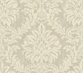 Weatherby Woods Stucco Damask Wallpaper Cream/Gray/Beige