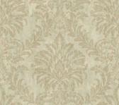 Weatherby Woods Stucco Damask Wallpaper Green/Seafoam/Golden Brown