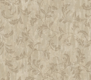Weatherby Woods Stucco Scroll Wallpaper Taupe/Putty/Mocha Tan
