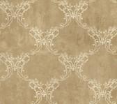 Weatherby Woods Laser Cut Ogee Wallpaper Gold/Cinnamon/Vanilla