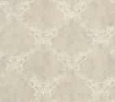 Weatherby Woods Laser Cut Ogee Wallpaper Silver Gray/Golden/Cr������������_����������������������������__������������_������������������������������������������������me