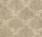 Weatherby Woods Laser Cut Ogee Wallpaper Coffee/Cream