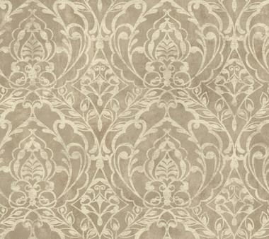 Weatherby Woods Laser Cut Damask Wallpaper Coffee/Cream