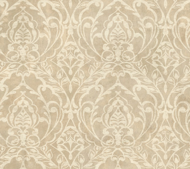 Weatherby Woods Laser Cut Damask Wallpaper Neutral/Rose Pearl/White