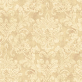 Weatherby Woods Sophisticated Damask Wallpaper Coral/Rose/Off White