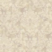 Weatherby Woods Sophisticated Damask Wallpaper Lavender/Beige/Crme