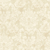 Weatherby Woods Sophisticated Damask Wallpaper Vanilla/Mocha/White