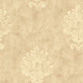Weatherby Woods Sophisticated Medallion Wallpaper Coral/Rose/Off White