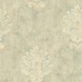 Weatherby Woods Sophisticated Medallion Wallpaper Seafoam Green/Beige/CrÌ´Ì_Ì´åme