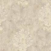 Weatherby Woods Sophisticated Medallion Wallpaper Lavender/Beige/CråÎåme