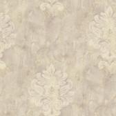 Weatherby Woods Sophisticated Medallion Wallpaper Lavender/Beige/CrÌ´Ì_Ì´åme